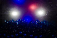 蓝色氦气气球 免版税库存照片