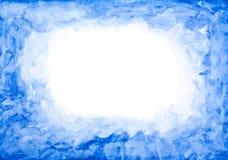 蓝色水彩框架 免版税库存图片