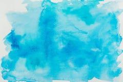 蓝色水彩纹理 图库摄影