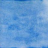 蓝色水彩背景 免版税库存图片