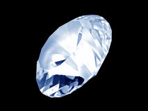 蓝色水晶金刚石前面 免版税库存图片