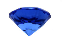 蓝色水晶 库存照片