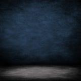 蓝色水泥内部空间墙壁 免版税库存照片