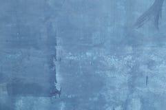 蓝色水泥墙壁纹理 免版税库存照片