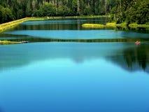 蓝色池塘 免版税库存图片