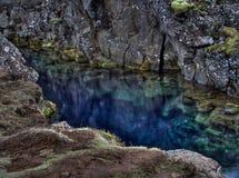 蓝色池塘 免版税库存照片