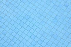 蓝色池瓦片背景 图库摄影