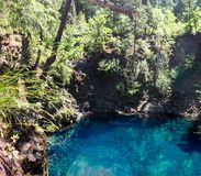 蓝色池 库存图片