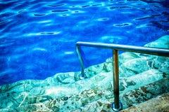 蓝色池 免版税图库摄影