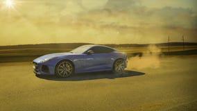 蓝色汽车体育运动 免版税图库摄影