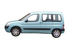 蓝色汽车光 库存图片