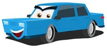 蓝色汽车字符 免版税库存照片
