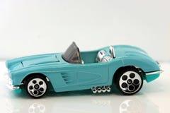 蓝色汽车炫耀玩具 库存图片