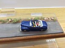 蓝色汽车玩具 免版税图库摄影