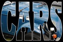蓝色汽车经典之作 免版税库存图片