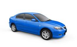 蓝色汽车裁减路线w 库存照片