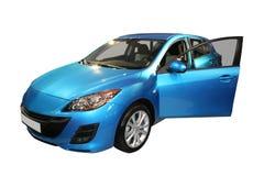 蓝色汽车 库存图片