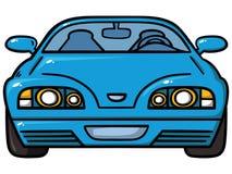 蓝色汽车 免版税库存照片