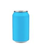 蓝色汽水罐 免版税库存照片