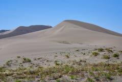 蓝色沙丘铺沙天空 免版税库存图片
