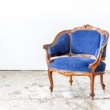 蓝色沙发长沙发 库存照片