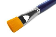 蓝色油漆刷 库存图片