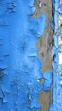 蓝色油漆削皮 库存图片