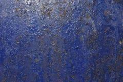 蓝色油漆剥皮 免版税库存图片