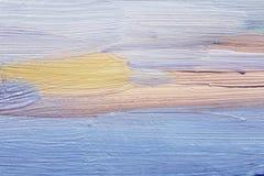 蓝色油漆大绘画的技巧在帆布的 使用的艺术背景互联网可能的项目 免版税库存照片