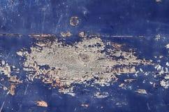 蓝色油漆木头 免版税库存图片