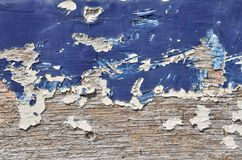 蓝色油漆木头 库存图片