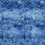 蓝色油漆水彩无缝的水彩纹理样式 图库摄影