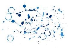 蓝色油漆泼溅物 免版税图库摄影