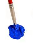 蓝色油漆 免版税库存照片