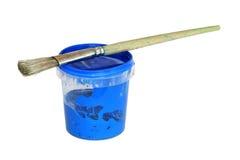 蓝色油漆 免版税库存图片