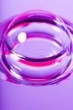 蓝色泡影紫色红色污点黄色 免版税库存照片
