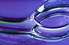 蓝色泡影紫色红色污点黄色 免版税库存图片