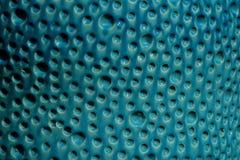 蓝色泡影纹理表面背景由陶瓷概念泡影形式水做 免版税库存图片