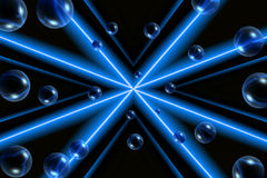 蓝色泡影设计 免版税库存照片