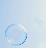 蓝色泡影 库存照片