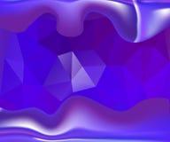 蓝色波浪传染媒介背景 免版税库存图片