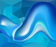 蓝色波浪传染媒介背景 免版税库存照片