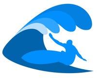 蓝色波浪和海浪 免版税库存图片