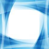 深刻的蓝色波浪框架 免版税库存照片