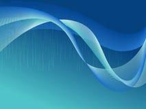 蓝色波浪 库存图片