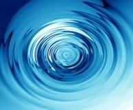 蓝色波纹水 免版税库存照片