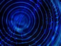 蓝色波纹 向量例证