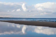 蓝色波罗的海 免版税库存图片