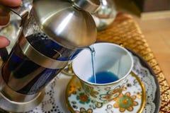 蓝色泰国茶chalalai 免版税库存照片