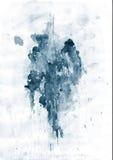 蓝色泼溅物 库存图片